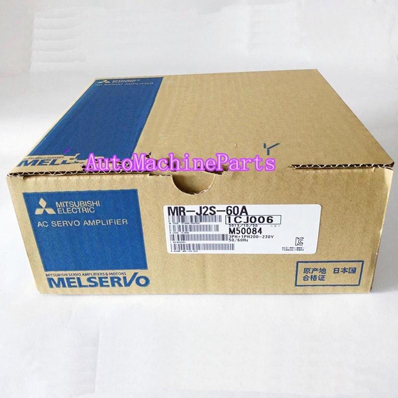 New in box For Mitsubishi MR-J2S-60A AC Servo Amplifier MRJ2S60A servo motor drive servo amplifier mr j2s 40a used for servo motor hc kfs43