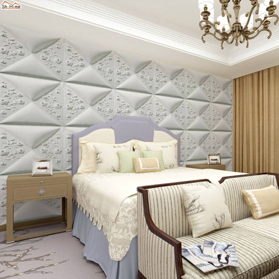 ShineHome-Geometric Trellis Diamond Brick Photo Wallpaper for 3d Murals Walls Roll Wall Paper Rolls Papel Pintado Pared Rollos shinehome nature banana leaf wallpaper 3d photo wallpaper rolls for walls 3 d livingroom wallpapers mural roll paper background