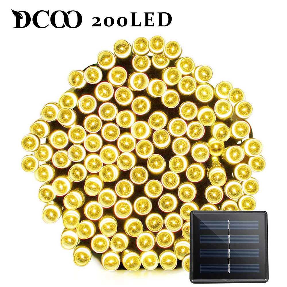 Dcoo LED Solar Light 72ft 22meter 200 LED 8 Moduser Tuinverlichting - Utendørs belysning - Bilde 3