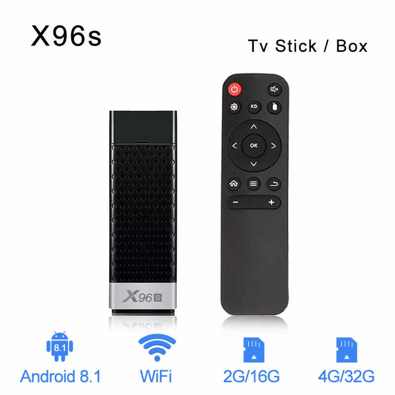 X96S Android 8.1 TV Box Amlogic S905Y2 DDR4 4 4GB 32G Smart 4K TV Stick 5G WiFi Bluetooth 4.2 TV Dongle lecteur multimédia PK MI BOX