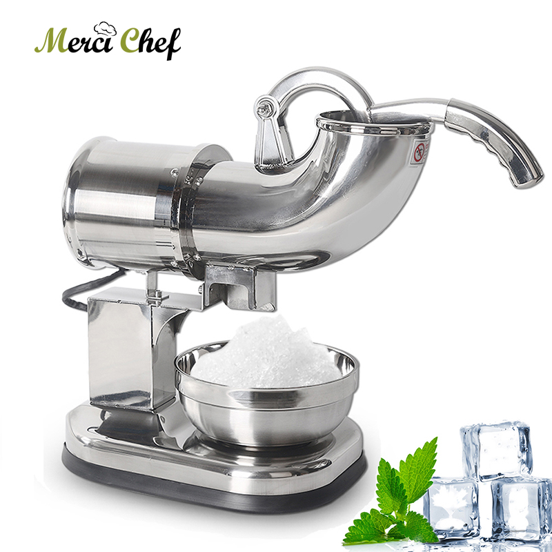 ITOP Electric Ice Crusher Shaver Machine Snow Cone Maker Stainless Steel Smoothie Sundaes Ice Cream Cocktails Maker CE