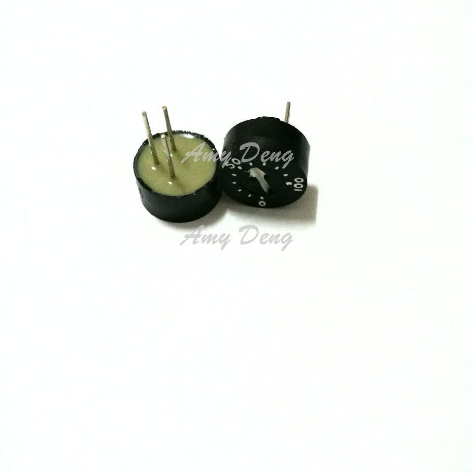 The circular single ring preset glass glaze potentiometer WIW3009-101 (100 Ohm)