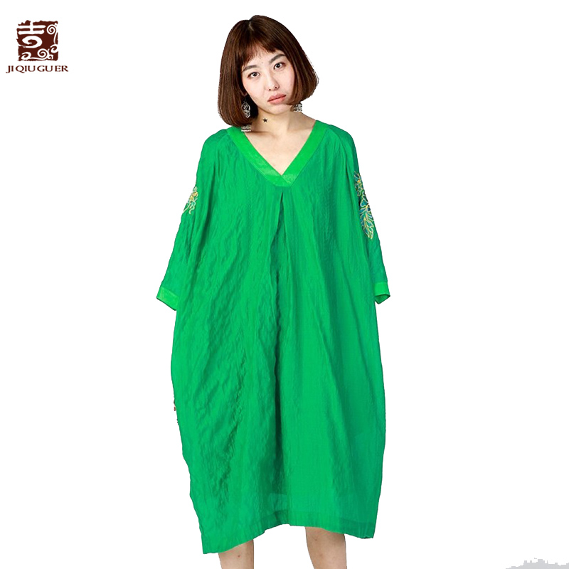 Jiqiuguer Women Black Knee Length Dresses Two Pieces Pullover Three Quarter Summer Pockets Embroidery Casual Vestidos
