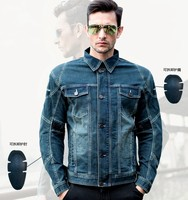 UglyBROS UBJ04 jeans jacket motorcycle protection jacket men moto denim jacket removable protector riding jacket