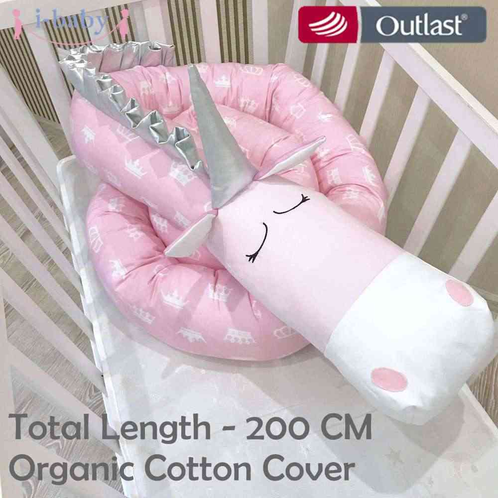 I - baby Unicorn กันชนเด็กทารกผ้าปูที่นอน Crib กันชน Cot กันชนทารกแรกเกิดพิมพ์ Crib Protector สำหรับทารก