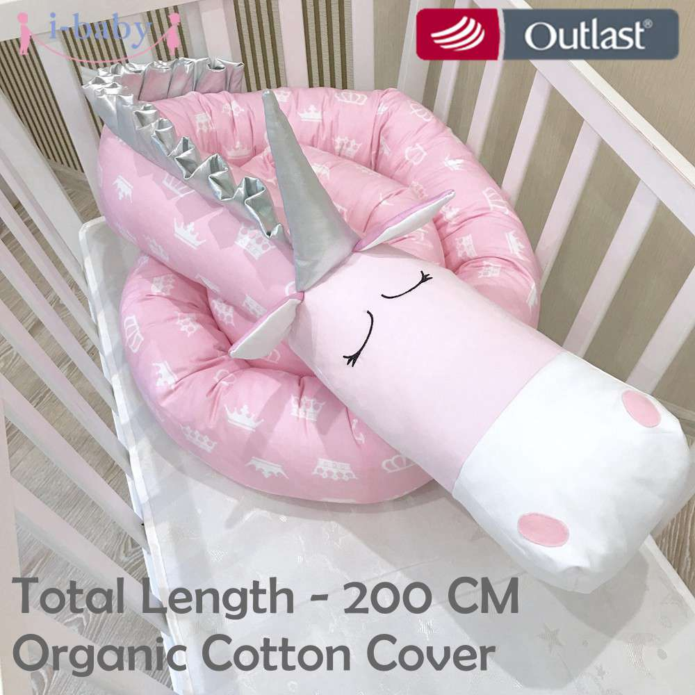 Je-bébé Licorne Bébé Pare-chocs Bébé Literie Crèche Pare-chocs Tour de Lit Nouveau-Né Coton Imprimé Lit Protecteur pour Infantile