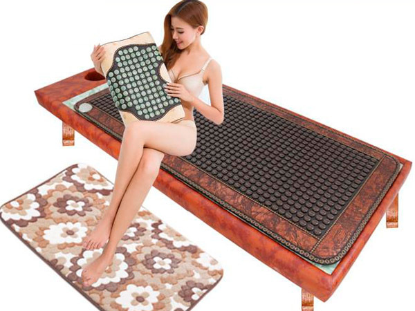 2016 Hot Heating Jade Cushion Mattress Natural Tourmaline Mat Physical Therapy Mat korea heated mattress 0.7X1.6M 2017 new heating massage mat heated jade stones cushion tourmaline health products heating sleeping mat size 100 50cm