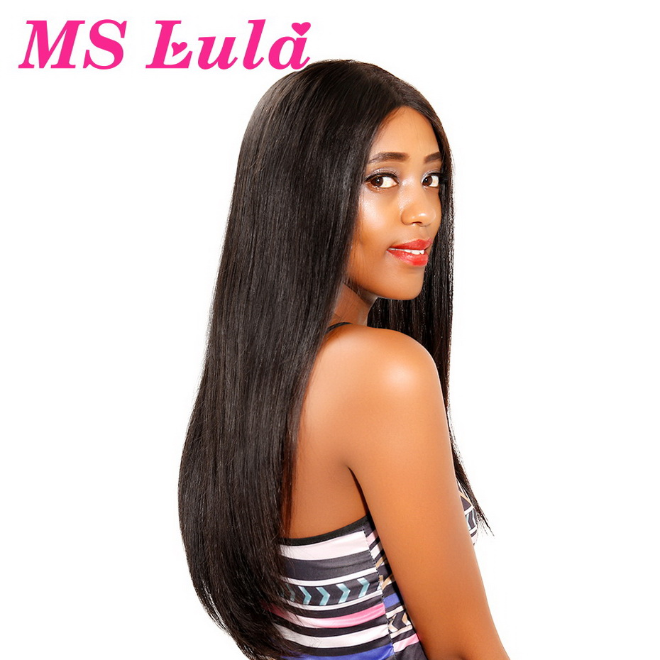 MS Lula Brazilian Straight Hair Full Lace Wig With Baby Hair 130 Density 22 5x14 5