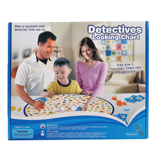 Detectives Looking Chart Board Game 2-4 Players Age 5+ Children Reacting Board Games for Family Find it out Game Jeux de Societe