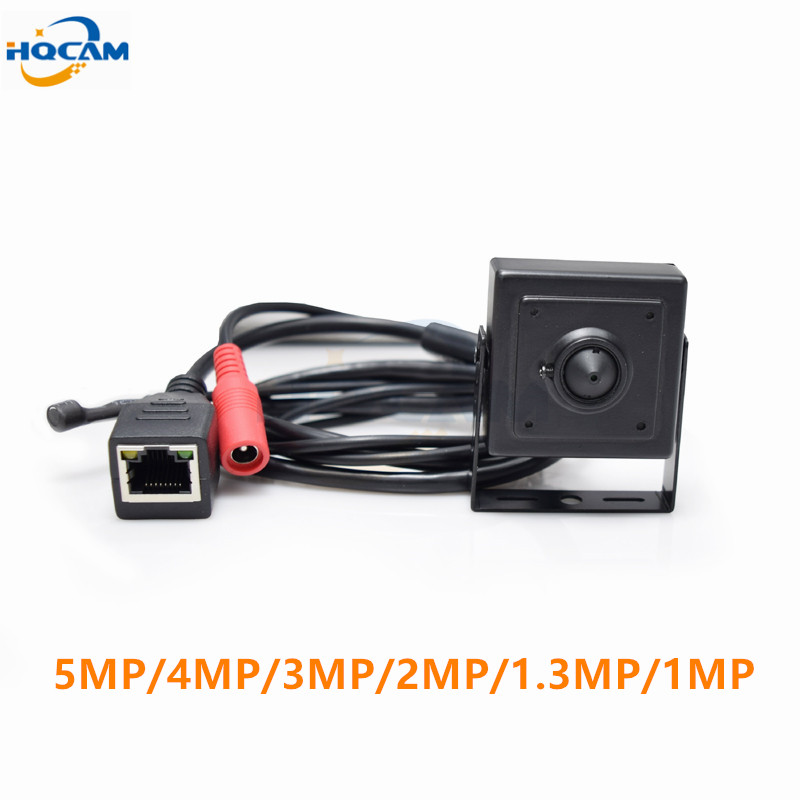 HQCAM 2.8mm lens mini ip camera 720P home security system cctv surveillance small hd External Microphone onvif 2.0 video p2p cam