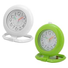 Fashionable Waterproof Bathroom Clock Dual Use Hanging Table Kitchen Home Decor High Quality