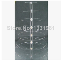 Multi tier acrylic cake wearing tier 7 round exquisite organic glass transparent acrylic cake package mail shelf