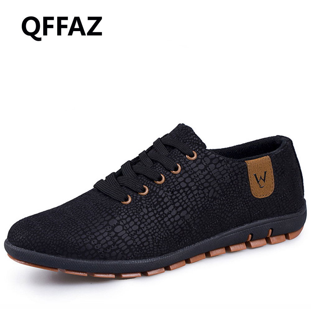 QFFAZ Spring/Summer Men Shoes Breathable Mens Shoes Casual Fashion Lace-up Canvas Shoes Flats Zapatillas Hombre Big Size 38-47 2017 fashion men casual shoes new spring men flats lace up male suede oxfords men leather shoes zapatillas hombre size 38 48
