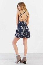 New Fashion Hot Sale Women Bohemian Sleeveless Tropical Floral Printed Beach Chiffon Dress Vestidos de Festa Y0209-69D