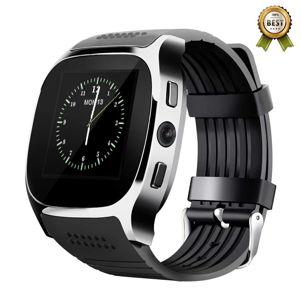 US $17 89 |K8 Bluetooth Smart Watch Camera Facebook Whatsapp Support 2G SIM  TF Card Call Smartwatch for Samsung Galaxy S7 Edge PK Q18 DZ09-in Smart