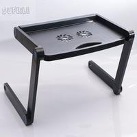 SUFEILE 360 Rolling Adjustable Portable Notebook Desk Laptop Stand MultiFunctional Folding Laptop Table Desk Bed Sofa
