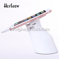 Cellphone Security Stand Tablet Anti Theft Alarm System Mobile Phone Display Recoiler With Clamp Charging For Phones Tablets