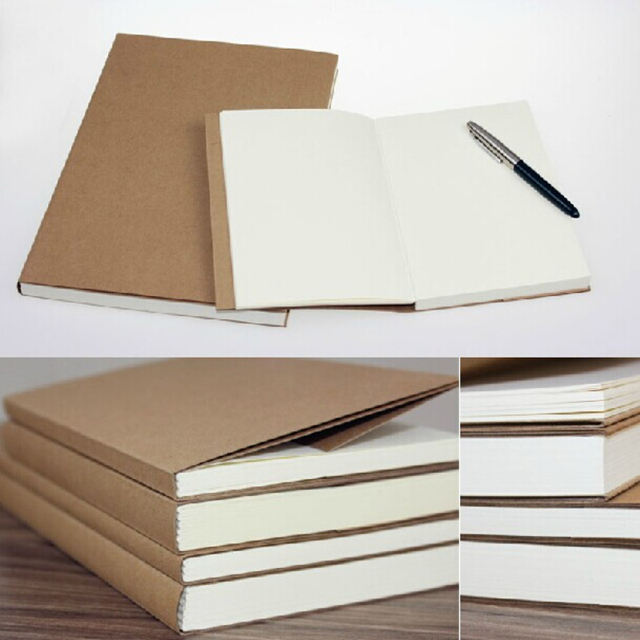 Book Cover Paper Thickness : Vintage blank pages sketchbook retro notebook thick school
