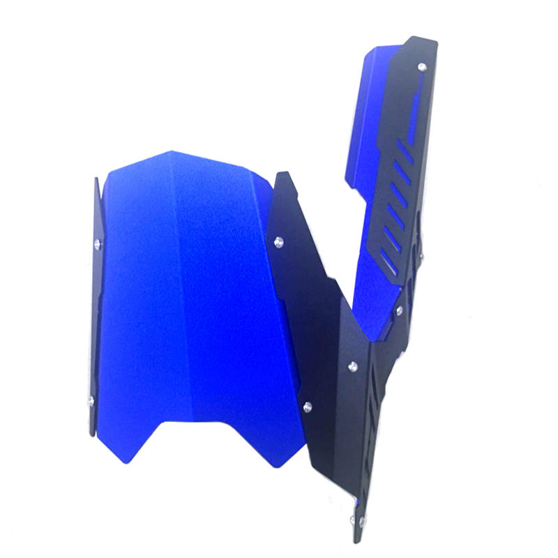 Blue For 2013-2016 Yamaha YZF R25 R3 Motorcycle Rear Fender Dust Mudguard With Chain Guard Fairing Tire Wheel Hugger Protector motorcycle cnc aluminum mudguard rear fender bracket license plate holder light for yamaha yzf r25 r3 yzf r25 yzf r3