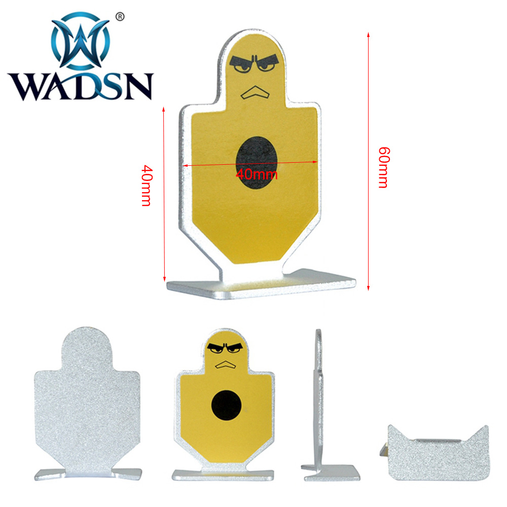 WADSN 6Pcs/Pack Tactical WARRIORS OF FORTITUDE(METAL TARGET) Airsoft Shooting Practice Target Mount WEX118 Paintball Accessories