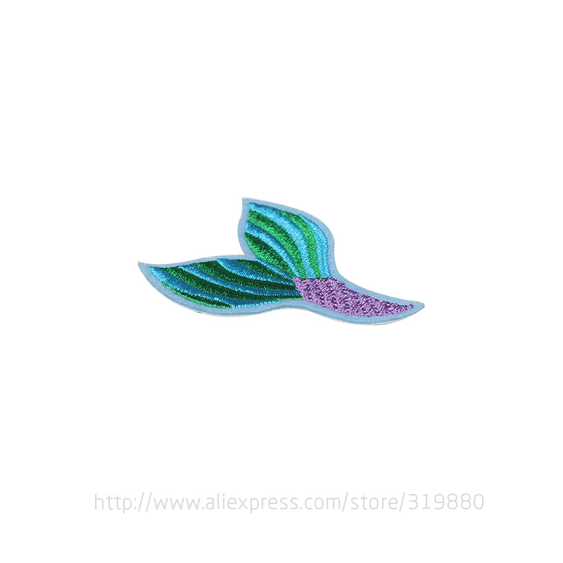 Tianxinyue 20 unids sirena cola Parches hierro en DIY bordó Costura ...