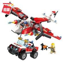 Enlighten Flame Pioneer of Fire Command Vehicle Helicopter Building Blocks Model kit Bricks Educational Toys For Children Gift цены
