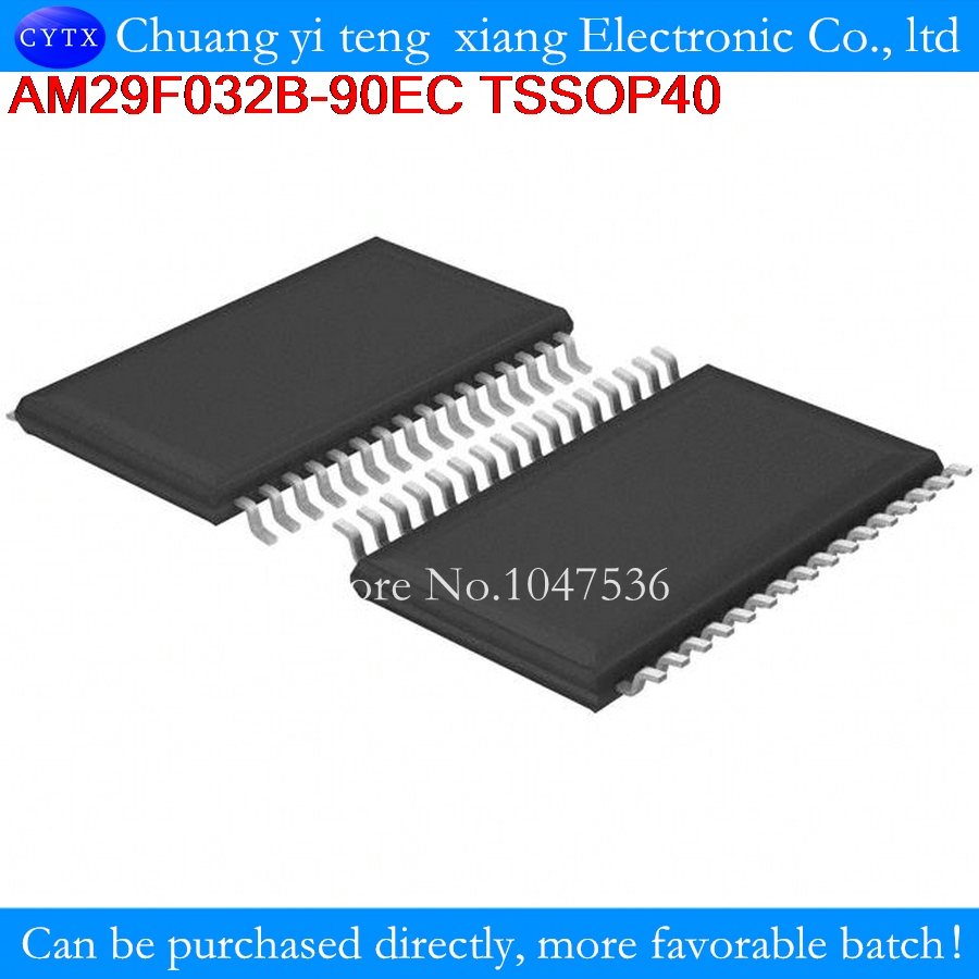AM29F032B-90EC AM29F032 AM29F032B TSSOP40 32 Megabit (4 M x 8-Bit) CMOS 5.0 Volt-only, Uniform Sector Flash Memory 2PCS/LOT
