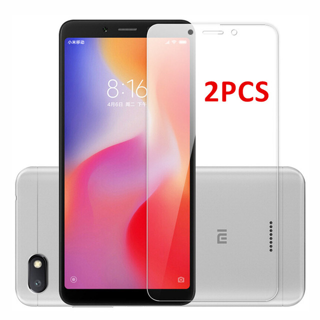 2PCS For Glass Xiaomi Redmi 6 6A Screen Protector Tempered Glass For Xiaomi Redmi 6 Glass Redmi 6A Protective Phone Film