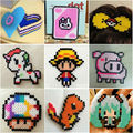 1000pcs/Lot 5mm Hama Perler Beads EVA Kids Children DIY Handmaking Fuse Bead Intelligence Educational Toys Craft 9 Colors