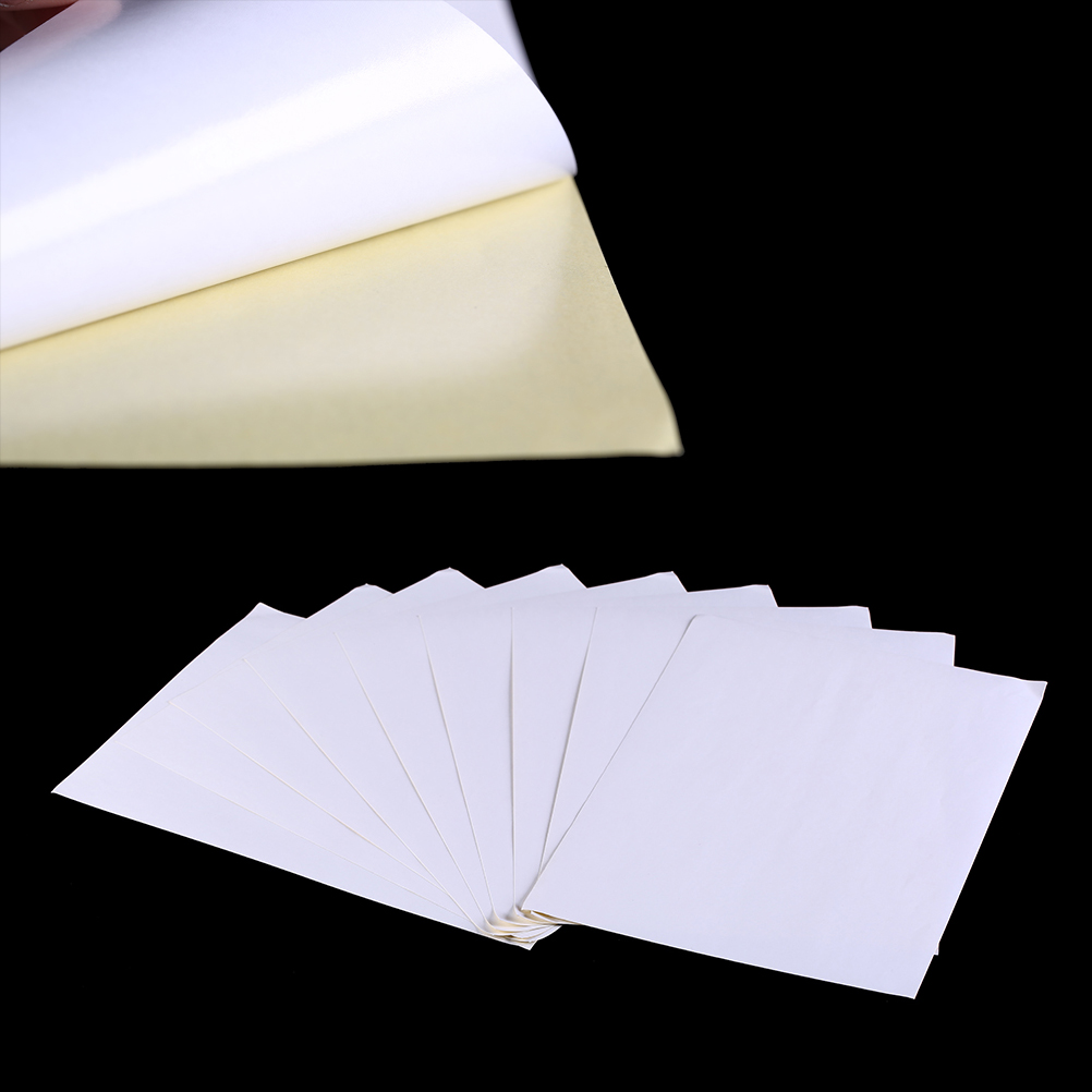 100sheets A4 Blank White Waterproof Self Adhesive Writing Surface Adhesive Sticker Label Paper For Laser Printer
