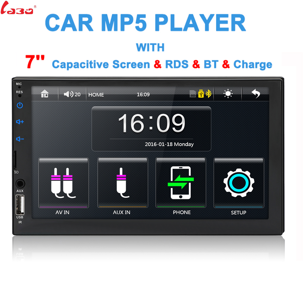 LaBo 2 din Car Radio 7 HD Player MP3 Digital Display 12V Bluetooth Multimedia USB SD