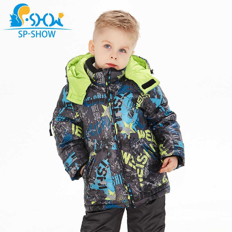 Купить 1 костюм получить 1 бесплатный шарф-30 градусов SP-SHOW зима 90% белый пуховик костюм природа Меховая Шапка Лыжная куртка ветрозащитная куртка Толстая теплая
