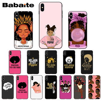 for iphone 11pro max 2bunz Melanin Poppin Aba Design Phone Cover for iphone X XS MAX 5 6S SE 7 8 plus XR Mobile Cases image