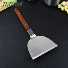JIANDA Newest Cooking Tools Heat Resistance Stainless Steel Turners Spatula Scraper with Wooden Handle utensilios de cozinha