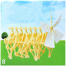 Mini Strandbeest DIY Robot Windmill Assembly Models Robot Windmolen Science Puzzle Toys For Children Wind Power Beast Walk Toy(China)