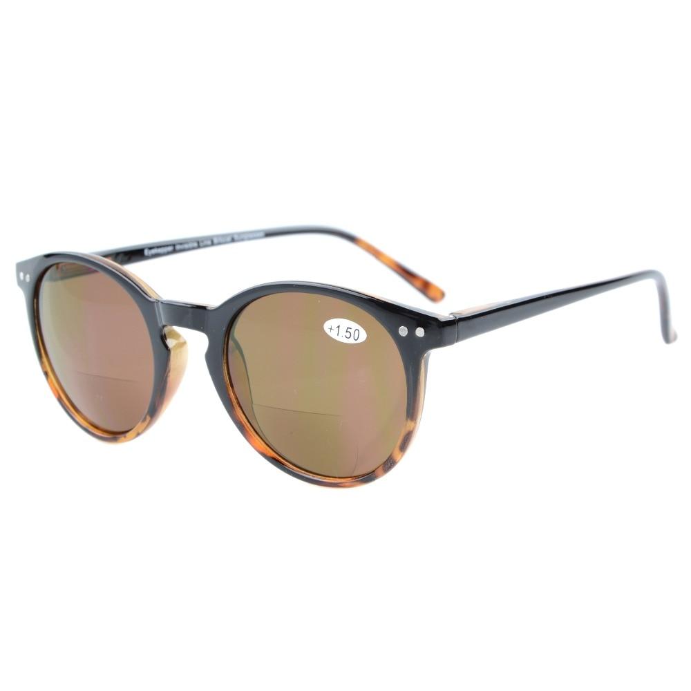S005 Eyekepper Key Hole Style Fjäderhängda Runda Bifokala Solglasögon Sun Readers + 1.0 / + 1.5 / + 2.0 / + 2.5 / + 3.0