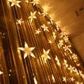 Fünfzackigen stern vorhang lichter led leuchten blinken lampen hochzeit dekoration hintergrund licht Lichter string  3 Mt breite  1 5 Mt hohe|light string|star curtain lightscurtain lights -