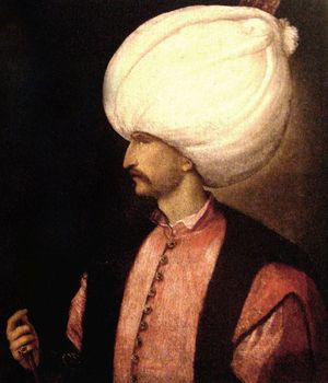 Wholesale art oil painting -- 100% hand painted art --30 inch large --Suleiman the Magnificent Sultan of the Ottoman Empire image