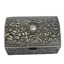 Classical European Gothic style Metal Jewelry Storage Box Tin J2137