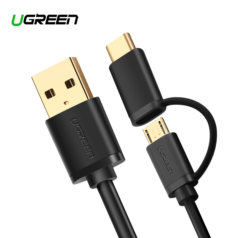 ugreen micro usb cable for samsung s9 plus 2 in 1 usb type. Black Bedroom Furniture Sets. Home Design Ideas
