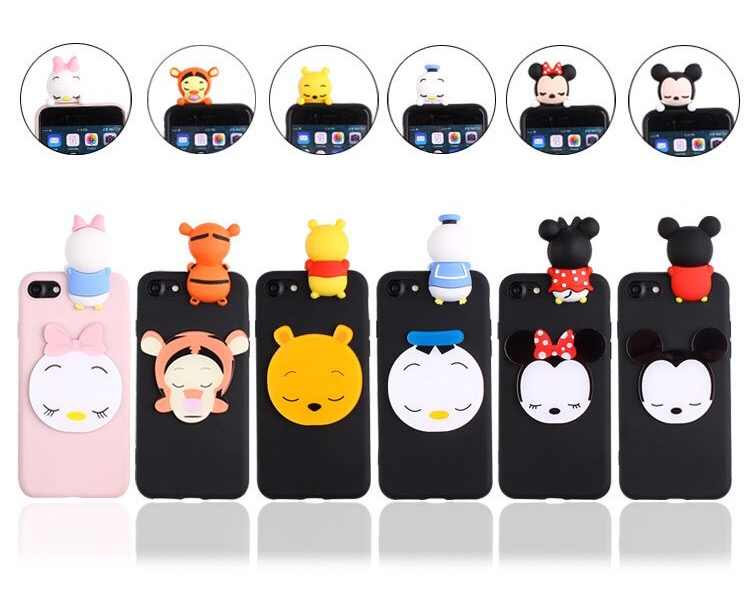 ... Cases For Vivo V7 PLUS V5S V5 Y66 3D Dolls Minnie Pooh Daisy Soft TPU  Back ... 6b6a5c2384d6