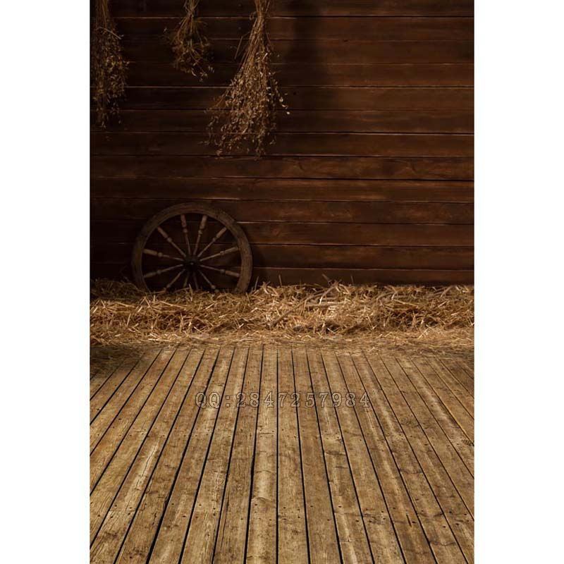 Vinyl Photography Background Farmyard Straw Bale Computed Printed Children Backdrops for Photo Studio S-1240