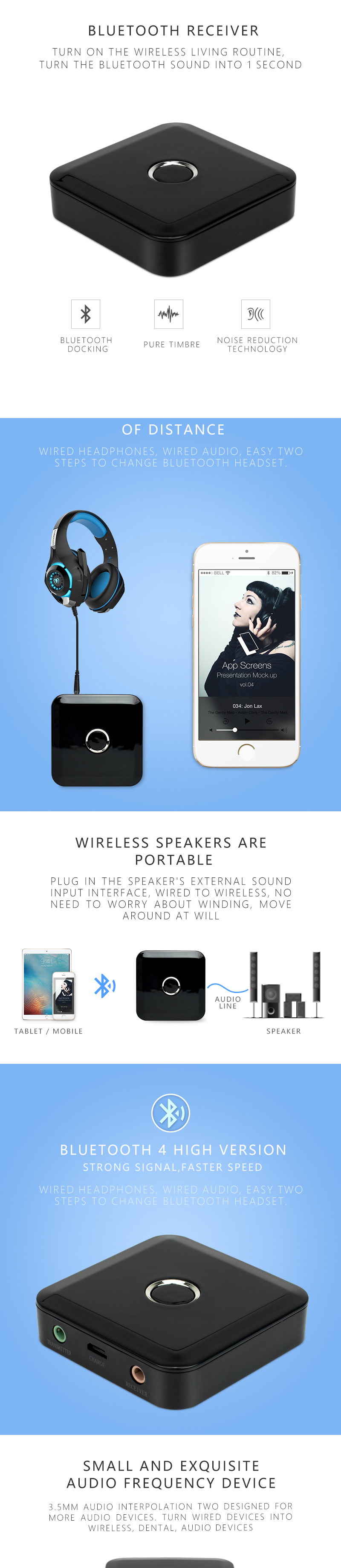 Gentle Portable 15w Multifunctional Wireless Bluetooth Subwoofer Stereo 3d Speaker N@ Portable Audio & Headphones