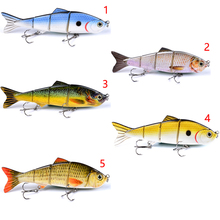 """4 Sections Metal Fishing Bait Connection 19g / 12.7 cm-5 """"Swimbait Fishing Bait Fishing Bait 6 # Black Fishing Hook Tackle 1 pc"""