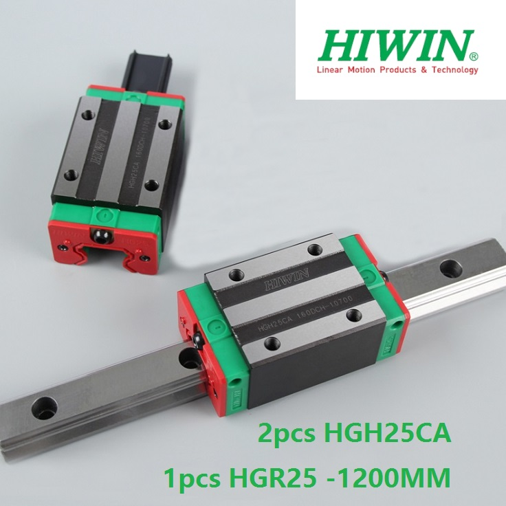 1pcs 100% original Hiwin linear guide linear rail HGR25 -L 1200mm + 2pcs HGH25CA linear narrow block for cnc router hiwin taiwan made 2pcs hgr25 l 600 mm linear guide rail with 4pcs hgh25ca or hgw25ca narrow sliding block cnc part