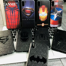 Male Marvel Avengers Superman Spiderman Phone Case for iPhone 6s 7 8 Plus X XS Max XR Black Matte Silicone Cover Ironman coque(China)