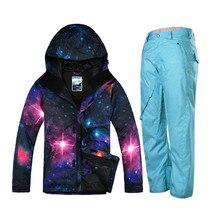 Gsou Snow mountain skiing suit for men snowboard pants mens winter ski jacket suit men chaqueta