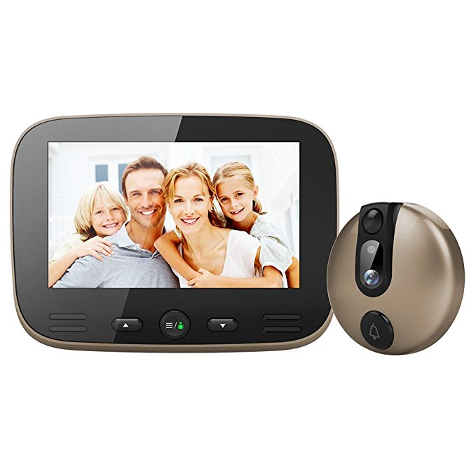 4.3 Inch 120 Degrees Wide Angle Peephole Digital Door Viewer Doorbell Security Camera Free Shipping 2 4 inch doorbell peephole viewer lcd screen multifunction security camera 120 degree angle view