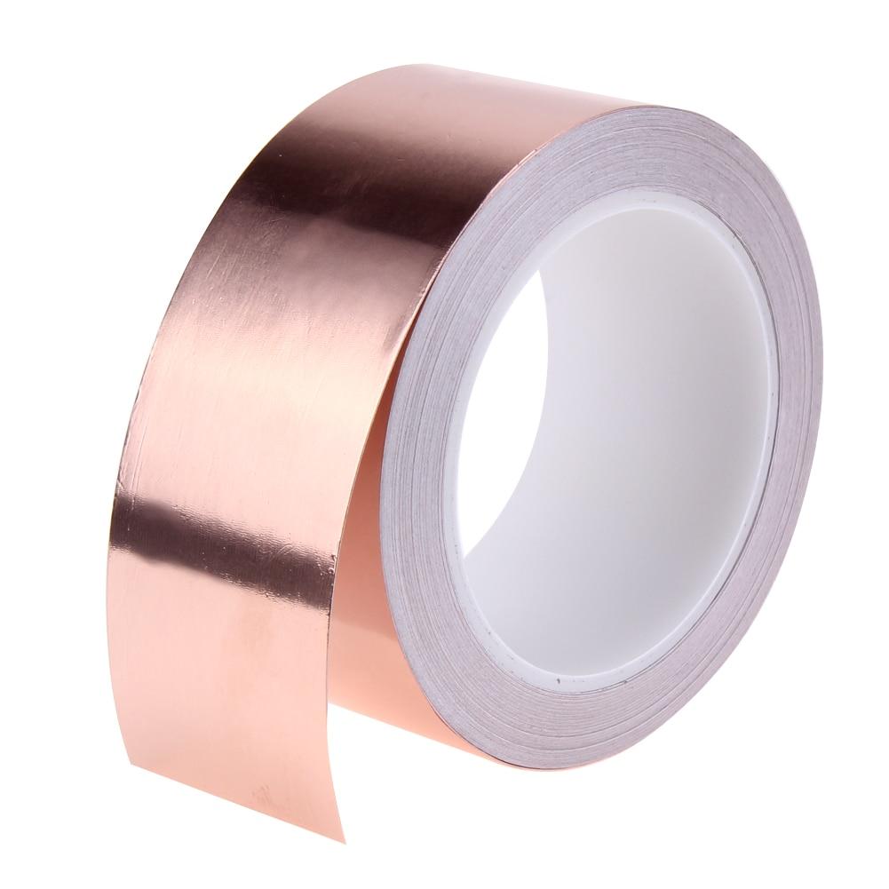 1 Roll 20 Meters 3 Cm 5 Tunggal Suhu Perekat Konduktif Copper Foil Tape Isolasi Tembaga 50mm X 1m Panas Pelestarian
