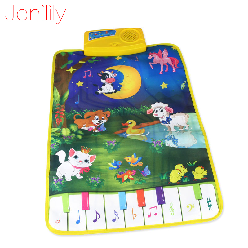 Children's Rug Baby Touch Play Game Carpet Developing Mat Musical Toy Singing Music Moon and Animals Puzzles Toys 37.5x62cm | Happy Baby Mama